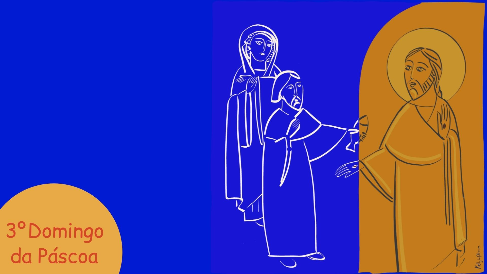 3º Domingo da Páscoa- Domingo do encontro do Ressuscitado  com a comunidade de Jerusalém