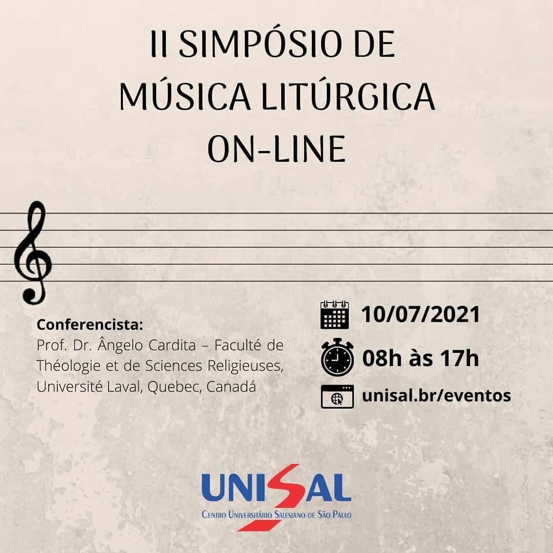 II SIMPÓSIO DE MÚSICA LITÚRGICA – ON-LINE